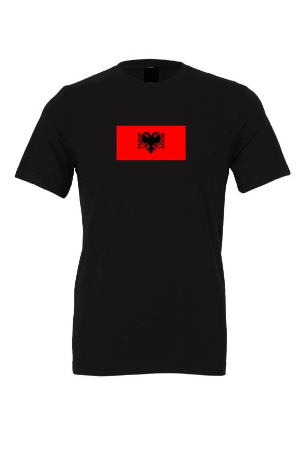 albania flag black t shirt 1