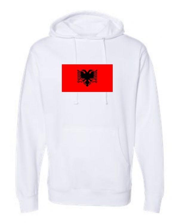 albania flag white hoodie 1