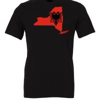 albanian flag new york black t shirt 2