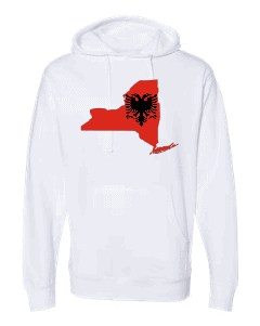 albanian flag new york white hoodie 2