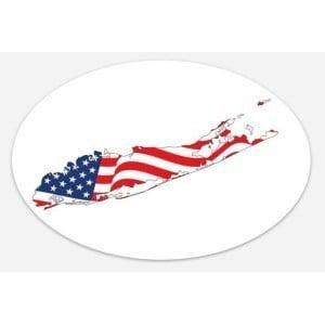 american flag long island sticker 2