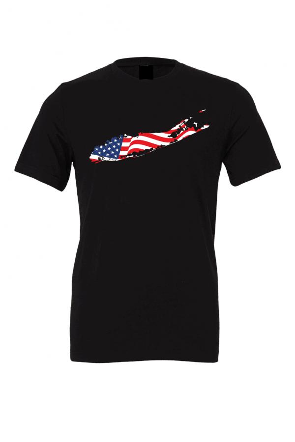 american flag long island t shirt black 2 2
