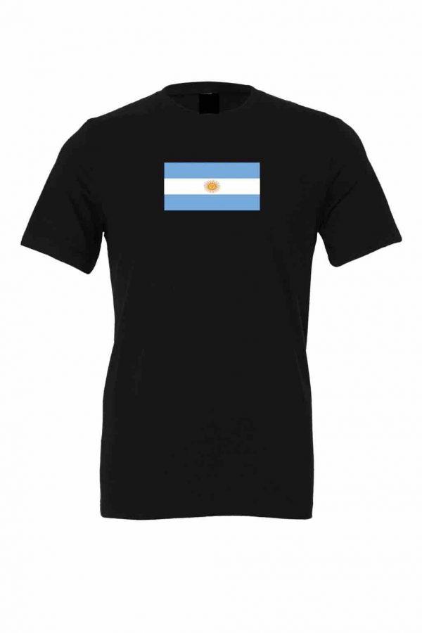 argentina flag black t shirt 1