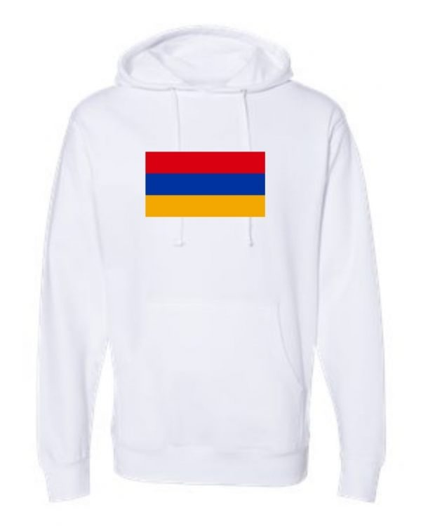 armenia flag white hoodie 1