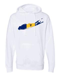 barbadian flag long island white hoodie 2