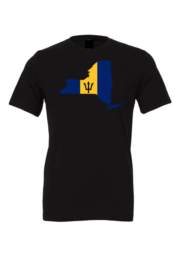 barbadian flag new york black t shirt 2
