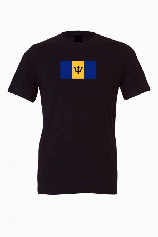 barbados flag black t shirt 1