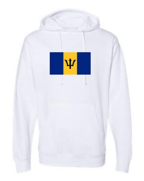 barbados flag white hoodie 1