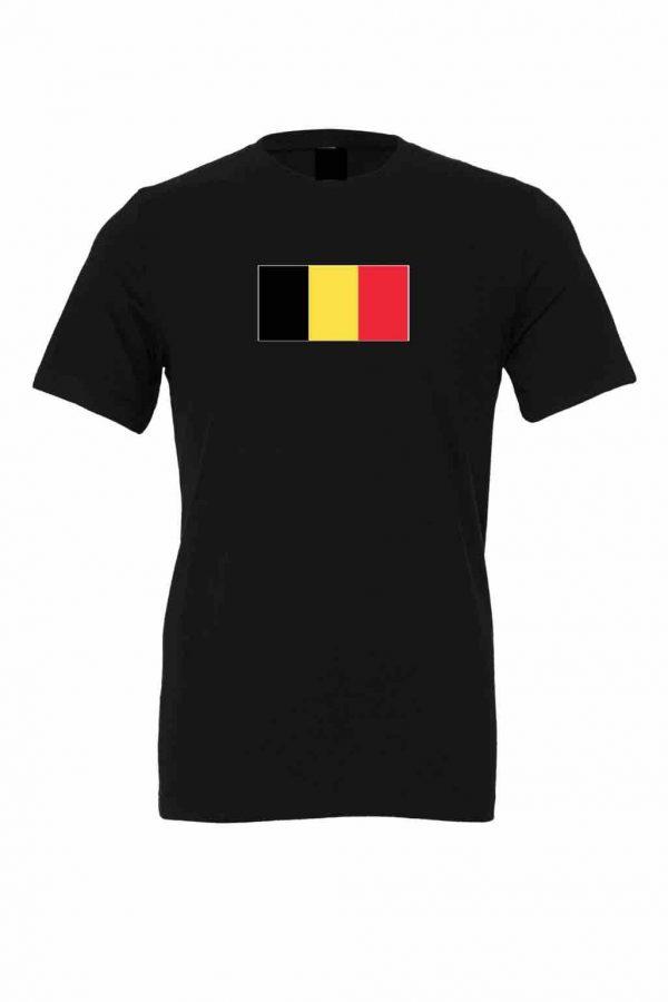 belgium flag black t shirt 1