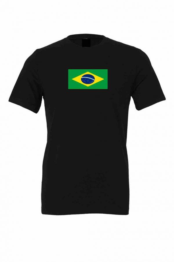 brazil flag black t shirt 1