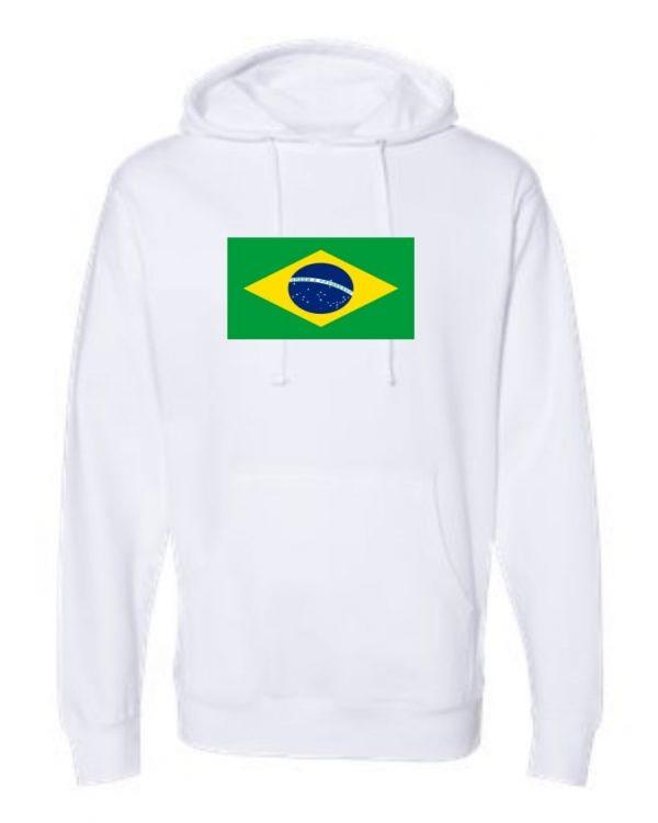 brazil flag white hoodie 1
