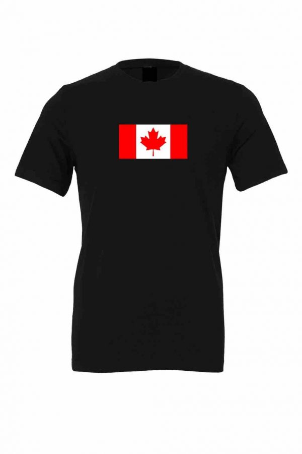 canada flag black t shirt 1