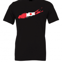 canadian flag long island black t shirt 2