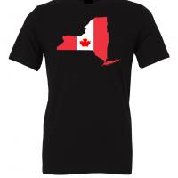 canadian flag new york black t shirt 2
