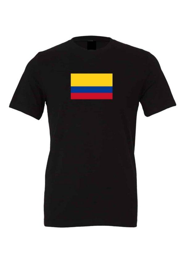 columbian flag black t shirt 1