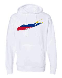 columbian flag long island white hoodie 2