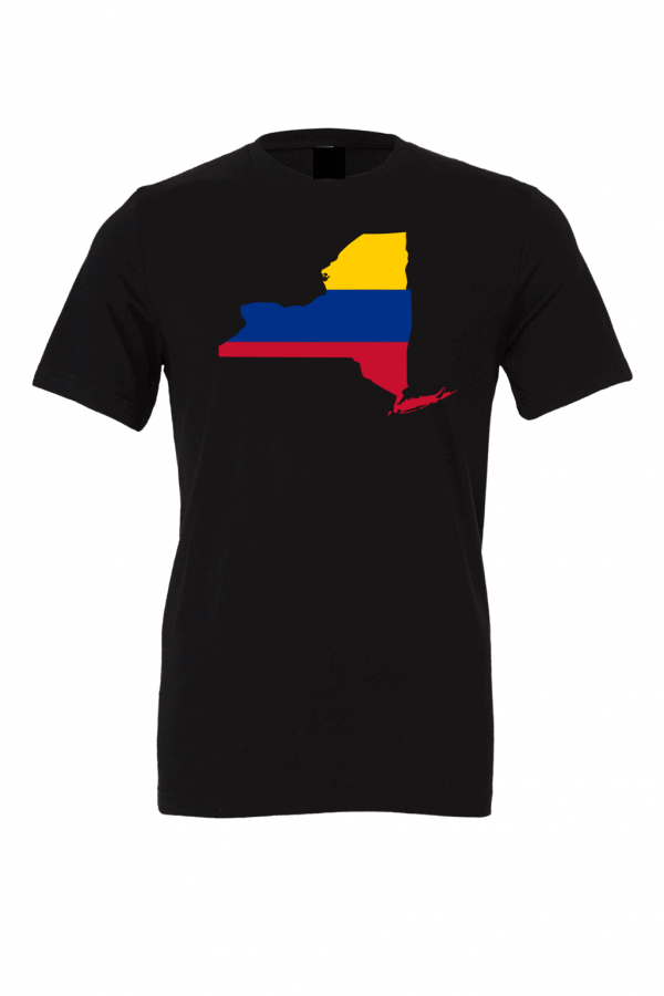 columbian flag new york black t shirt 2