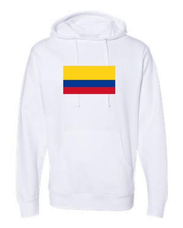 columbian flag white hoodie 1