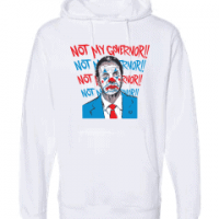 cuomo not my governor clown hoodie white 3