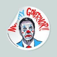 Cuomo Not My Governor Clown Sticker
