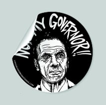 cuomo not my governor sticker black 2 3