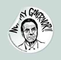 cuomo not my governor sticker white 3