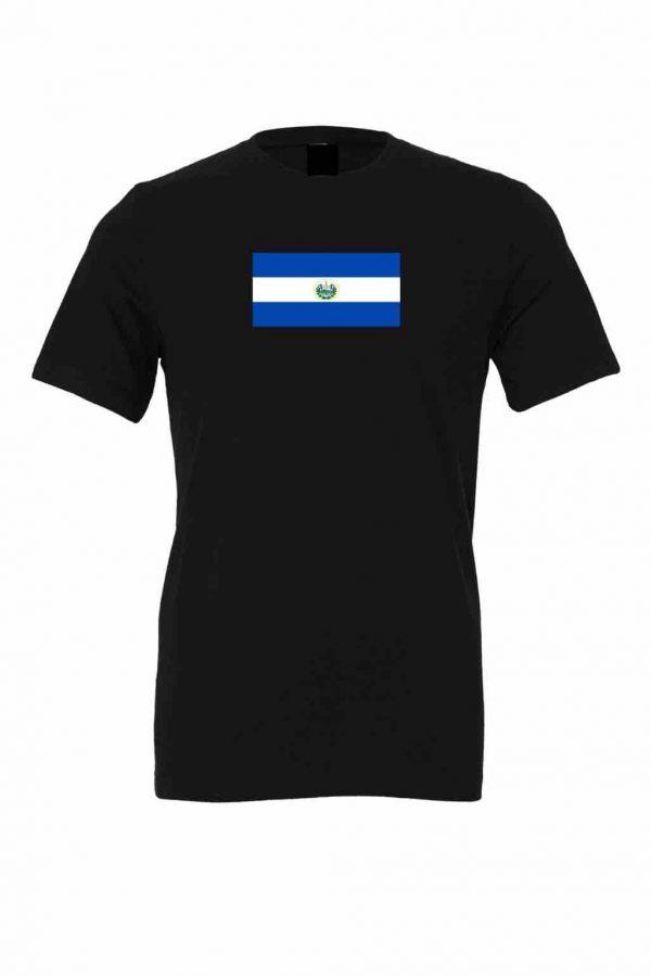 el salvador flag black t shirt 1