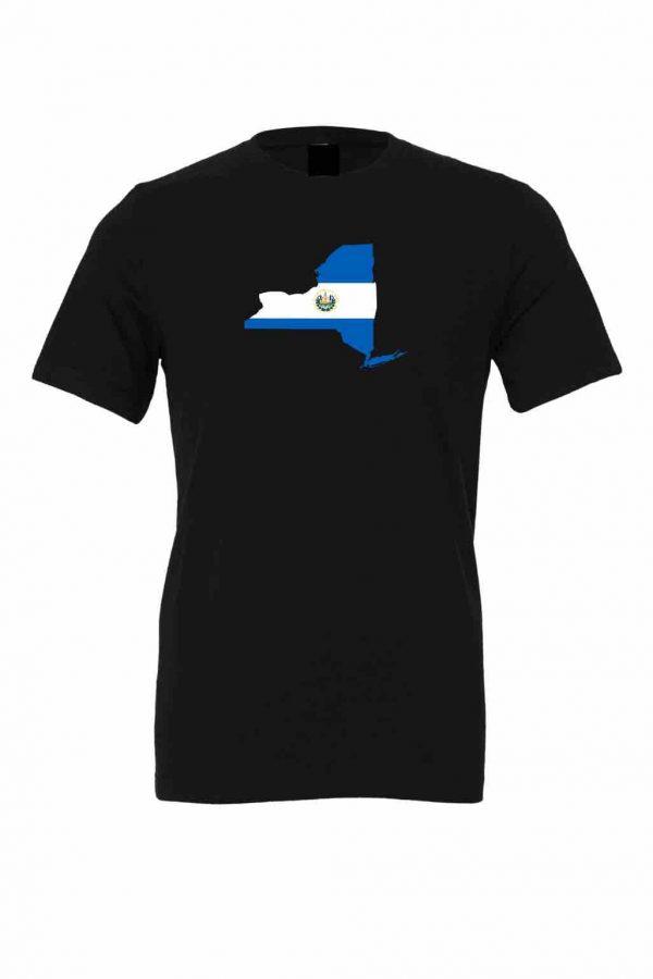 el salvador flag new york black t shirt 1