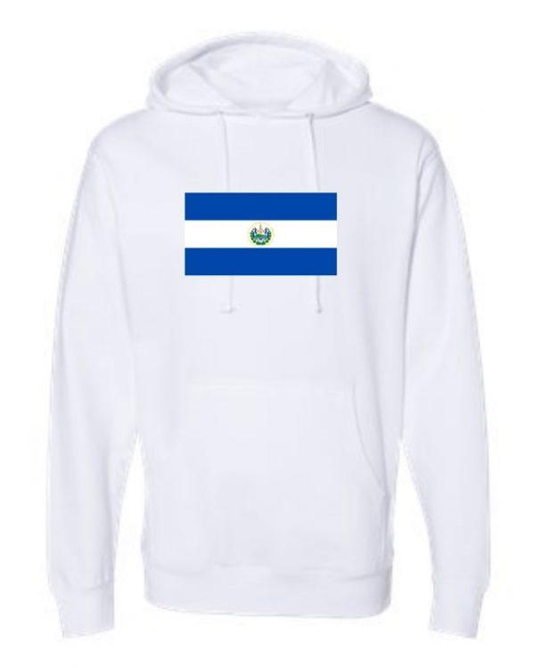 el salvador flag white hoodie 1