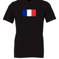 france flag black t shirt 1