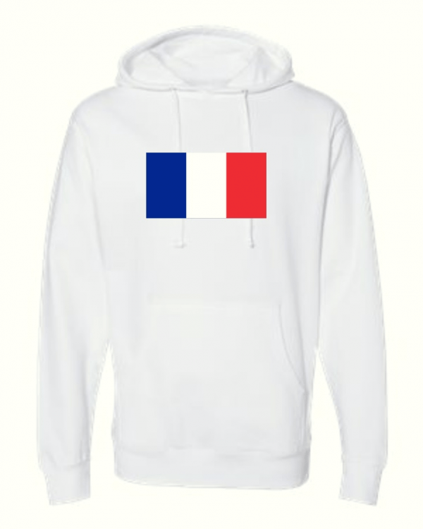 france flag white hoodie 1