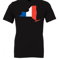 french flag new york black t shirt 2