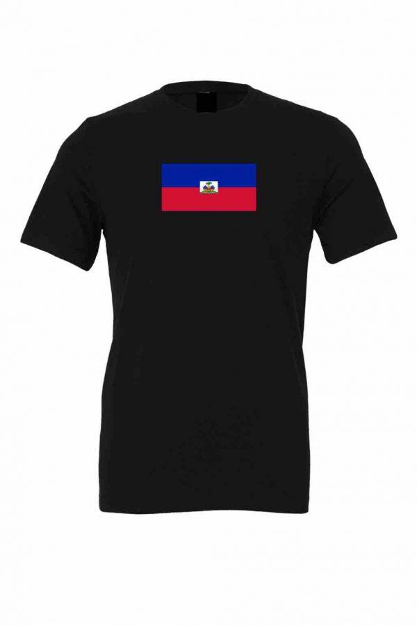 haiti flag black t shirt 1