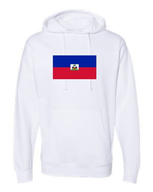 haiti flag white hoodie 1