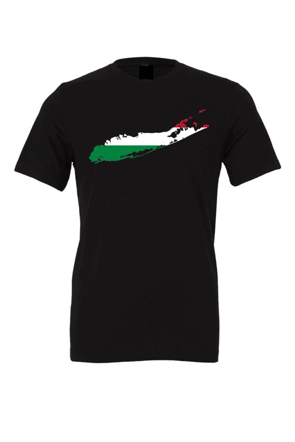 hungarian flag long island black t shirt 2