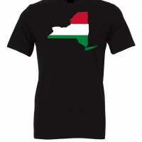 hungarian flag new york black t shirt 2