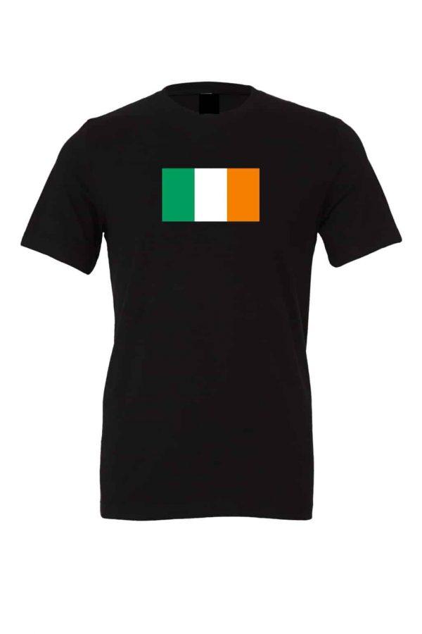 ireland flag black t shirt 1
