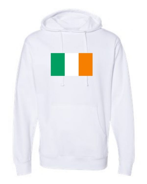 ireland flag white hoodie 1