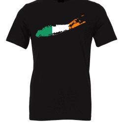 Irish Flag Long Island Black T-Shirts
