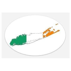 irish flag long island sticker 2