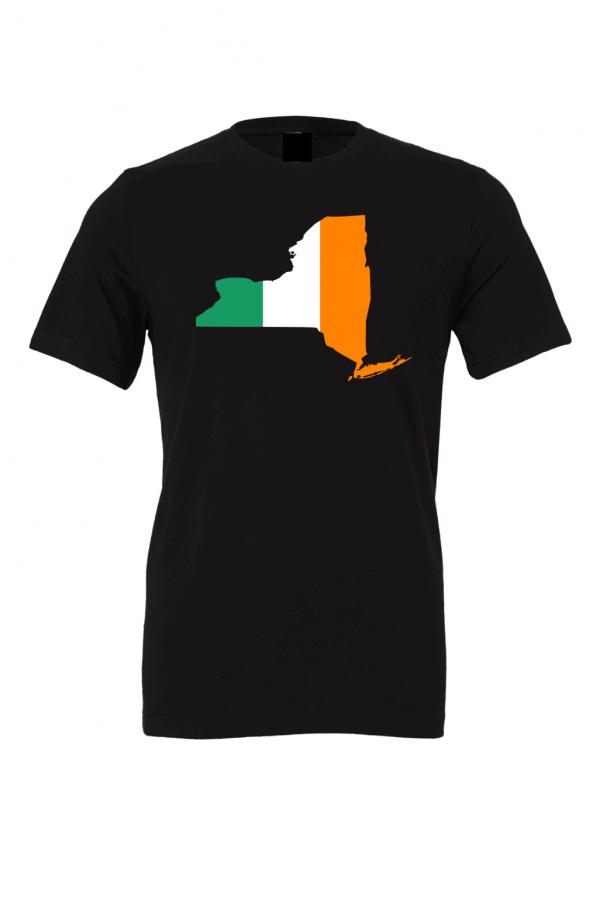 irish flag new york black t shirts 2