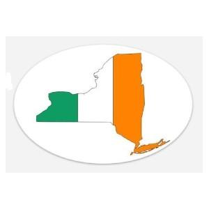 irish flag new york sticker 2