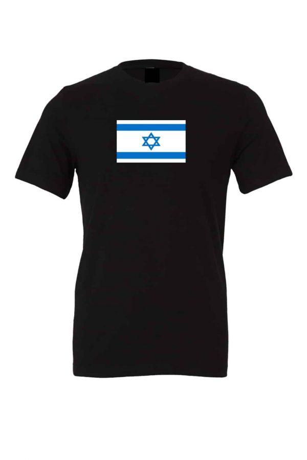 israel flag black t shirt 1