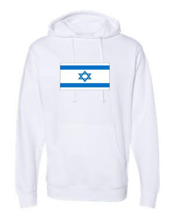 israel flag white hoodie 1