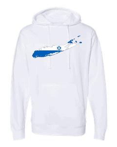 israeli flag long island white hoodie 2