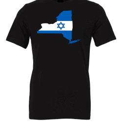 Israeli Flag New York Black T-Shirt
