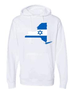 israeli flag new york white hoodie 2