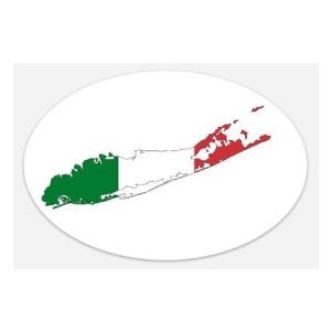 italian flag long island sticker 2
