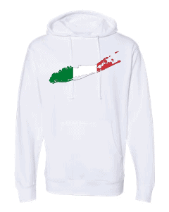 italian flag long island white hoodie 2
