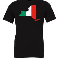 italian flag new york black t shirt 2